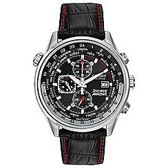 Citizen - Men's black 'eco-drive' chronograph watch ca0080-03e