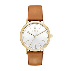 DKNY - Ladies Minetta tan leather strap watch