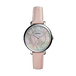 Fossil - Pink ladies jaqueline three-hand blush leather watch