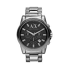 Armani Exchange - Men's dark silver stone watch ax2092