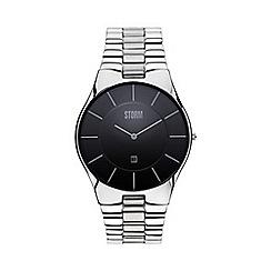 STORM London - Men's silver round dial watch slim-x xl black