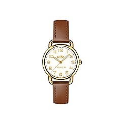Coach - Ladies brown 'Delancey' watch