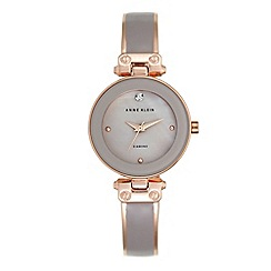 Anne Klein - Women's watch with rose gold case, diamond and rose gold and taupe bracelet
