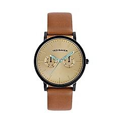 Ted Baker - Designer men's tan multi dial watch te1094