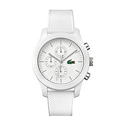 Lacoste - Gents white strap watch