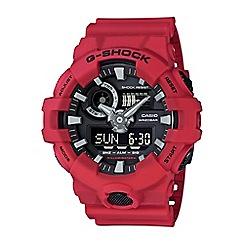 Casio - Men's red 'G shock' chronograph digital watch