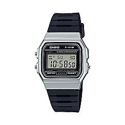 Casio - Unisex black 'Core' retro alarm chronograph watch