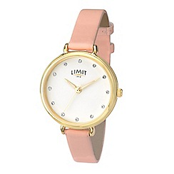 Limit - Pink Ladies gold plated strap watch