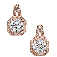 Anne Klein - Rose gold tone button stud earrings