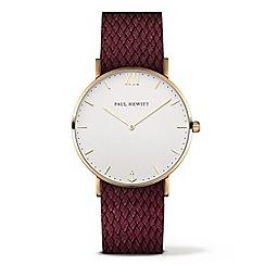 PAUL HEWITT - Ladies red 'Sailor Line' analogue watch ph-sa-r-sm-w-19S