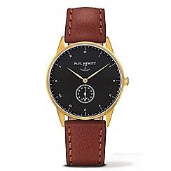 PAUL HEWITT - Unisex brown 'Signature Line' analogue watch ph-m1-g-b-1m
