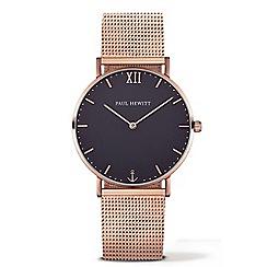 PAUL HEWITT - Unisex rose gold 'Sailor Line' analogue watch ph-sa-r-st-b-4m