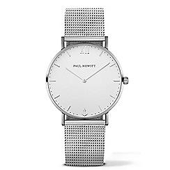 PAUL HEWITT - Unisex silver 'Sailor Line' analogue watch ph-sa-s-st-w-4m