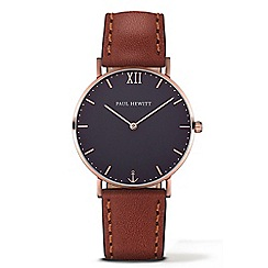 PAUL HEWITT - Unisex brown 'Sailor Line' analogue watch ph-sa-r-st-b-1m