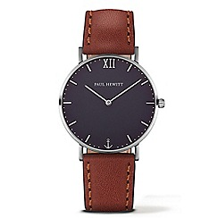 PAUL HEWITT - Unisex brown 'Sailor Line' analogue watch ph-sa-s-st-b-1m