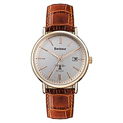 Barbour - Unisex brown 'bamburgh' leather strap watch