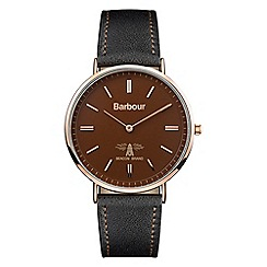 Barbour - Unisex 'hartley' leather strap watch