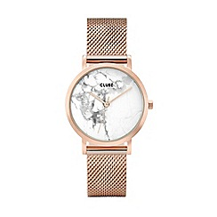 Cluse - Ladies rose gold 'La Roche' petite mesh bracelet watch