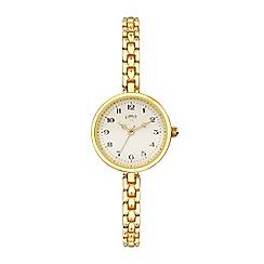 Limit - Ladies gold analogue strap watch