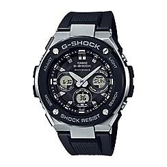 Casio - Men's black g-steel midsize alarm chronograph watch gst-w300-1aer