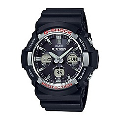 Casio - Men's  black g-shock radio controlled chronograph watch gaw-100-1aer