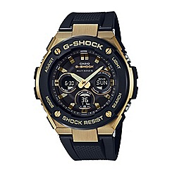 Casio - Men's black g-steel midsize alarm chronograph watch gst-w300g-1a9er