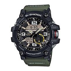 Casio - Men's dk green g-shock master of g mudmaster series, chronograph watch gg-1000-1a3er
