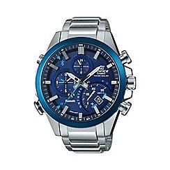 Casio - Men's silver smartphone link edifice  watch eqb-501db-2aer