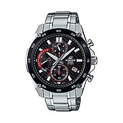 Casio - Men's silver edifice carbon fibre retrograde watch efr-557cdb-1avuef