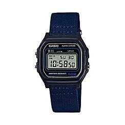 Casio - Unisex navy core retro alarm chronograph watch W-59B-2AVEF