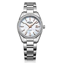 Rotary - Ladies silver 'Havana' watch LB05079/41