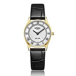 Rotary - Ladies black 'Ultra Slim' watch LS08303/01