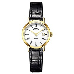 Rotary - Ladies gold 'Windsor' watch LS05303/01
