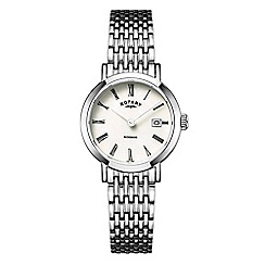Rotary - Ladies silver 'Windsor' watch LB05300/07