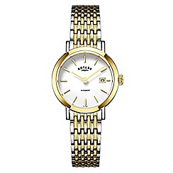 Rotary - Ladies gold 'Windsor' watch LB05301/01