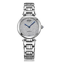 Rotary - Ladies silver 'Kensington' watch LB05190/33