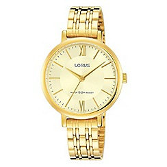 Lorus - Ladies champagne dial gold bracelet watch