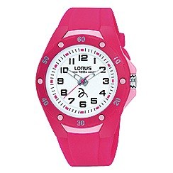 Lorus Soft pink silicone strap watch with backlight