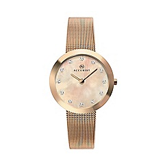 Accurist - Ladies rose gold watch 8128