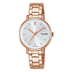 Pulsar - Ladies rose gold place bracelet watch
