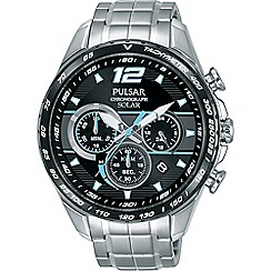 Pulsar - Men's solar accelerator chronograph stainless steel watch