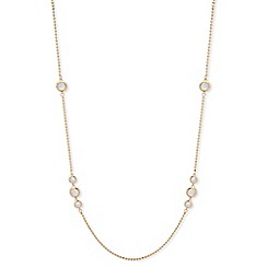 Anne Klein - Gold plated 'Spotlight' crystal strand necklace