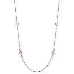 Anne Klein - Rose gold plated 'Spotlight' crystal strand necklace