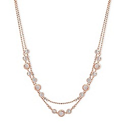 Anne Klein - Rose gold plated 'Spotlight' crystal strand necklace