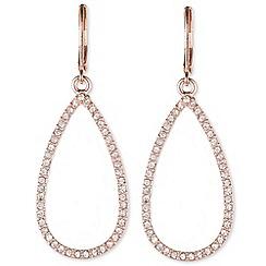 Anne Klein - Rose gold 'Social' teardrop earrings