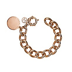 Tommy Hilfiger - Ladies stainless steel, rose gold IP medallion bracelet2700475