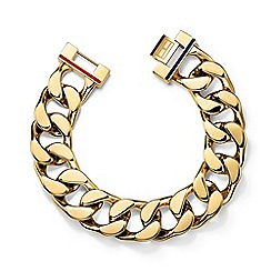 Tommy Hilfiger - Ladies stainless steel gold IP chunk chain bracelet2700702
