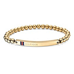 Tommy Hilfiger - Ladies stainless steel gold IP beaded bracelet2700787