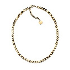 Tommy Hilfiger - Ladies stainless steel, gold IP beaded necklace