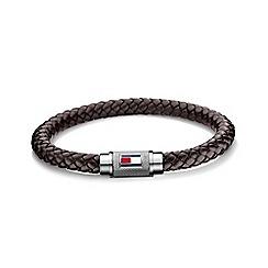 Tommy Hilfiger - Gents brown wrap leather bracelet2700998